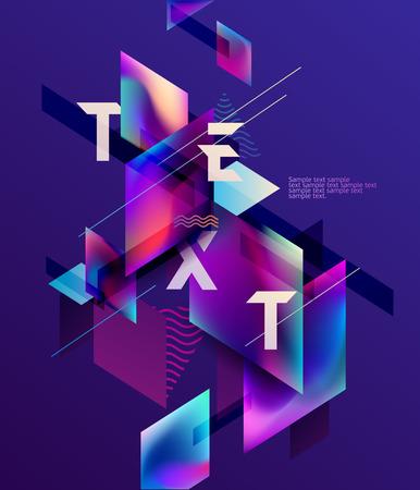 Colorful geometric composition. Foto de archivo - 100419911