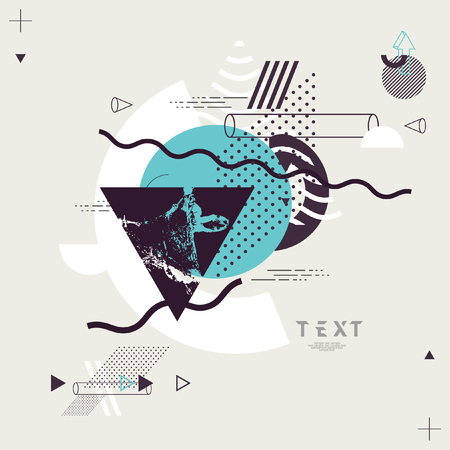 Abstract minimalistic geometric composition Ilustração