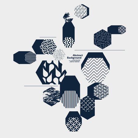 Abstract geometric composition Illustration