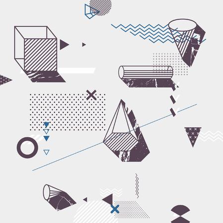 Background of simple geometric elements Illustration
