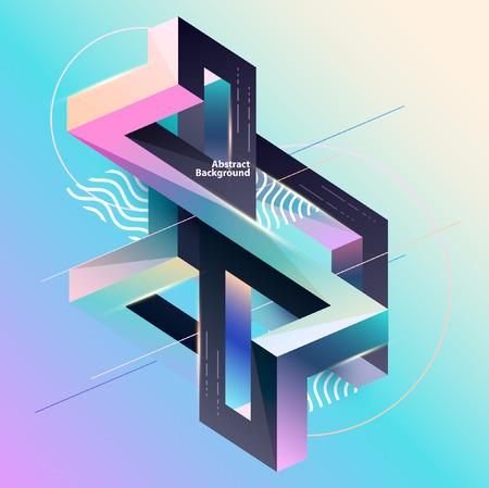 Composizione geometrica multicolore astratta