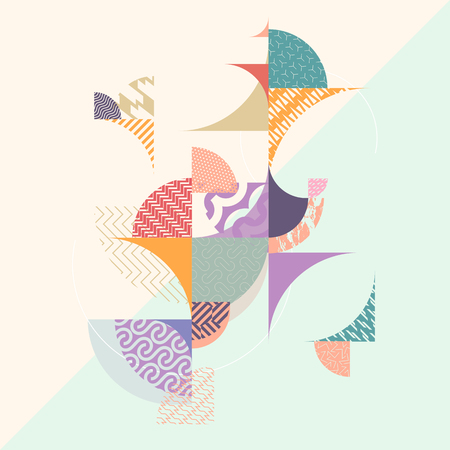 Abstract geometric decorative background