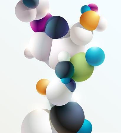Multicolored 3D balls on white background Foto de archivo - 108298980
