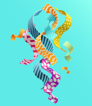 Background of decorative wavy lines Ilustrace