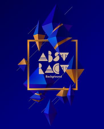 Poster met 3D-ruitjes Vector Illustratie