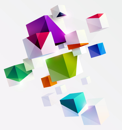 Composition of 3D cubes in perspective