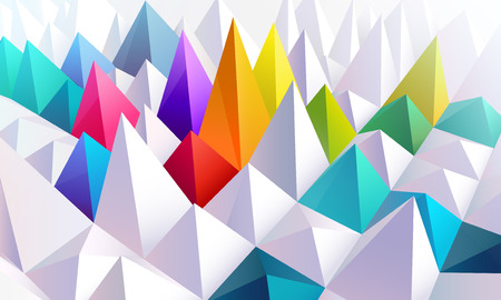 Background of colored 3d pyramids