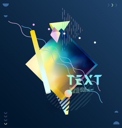 Multicolored geometric poster with place for text