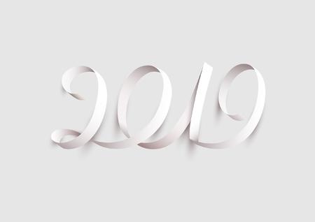 New Years 2019. Calligraphic inscription.