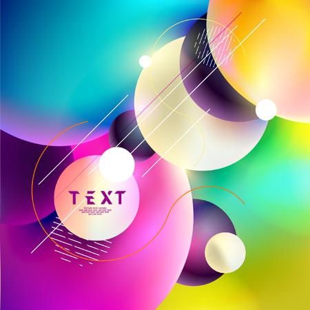 Background of multicolored bubbles Foto de archivo - 111585052
