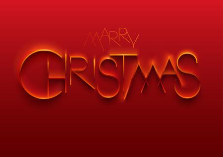 Frohe Weihnachten. Elegante stilisierte Inschrift.