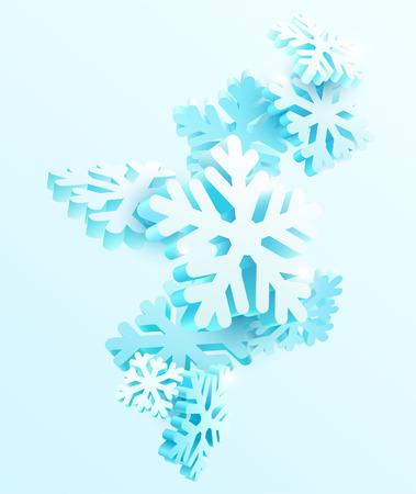 Abstrait d'hiver avec des flocons de neige