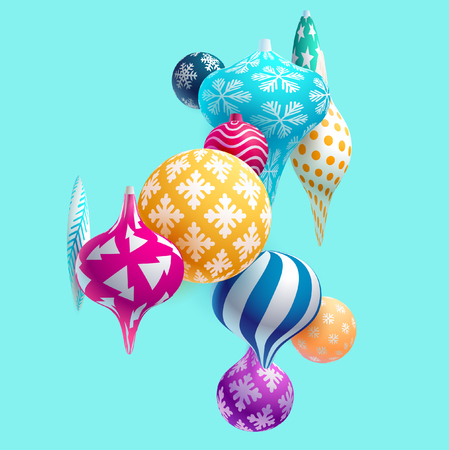 New Year 3D decoration Ilustrace
