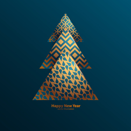 Stylized Christmas tree. Stock Illustratie