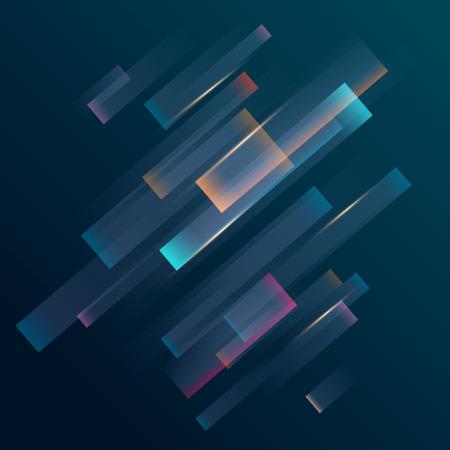 Lignes diagonales colorées sur fond sombre