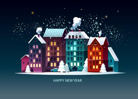 New year 2019. Greeting card.