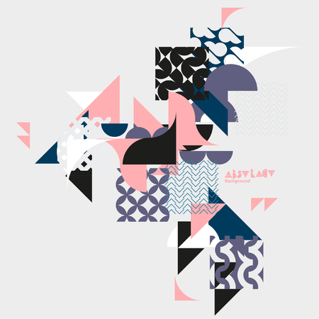 abstract chaotic background of geometric shapes Illustration
