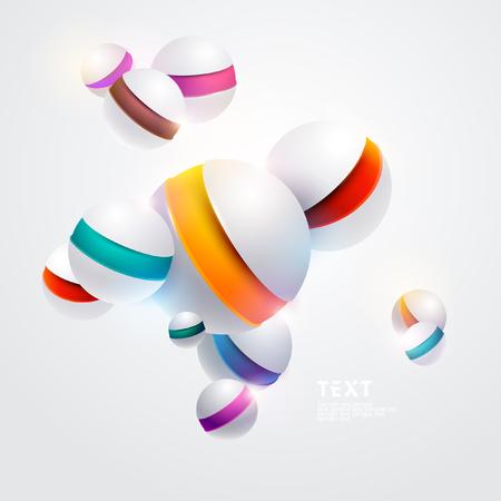 Multicolored 3D balls isolated on a white background Foto de archivo - 119058217