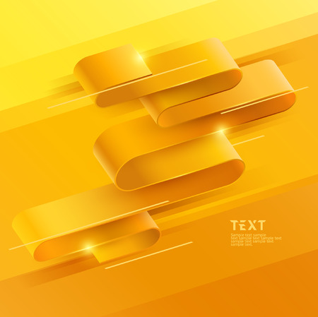 Abstract yellow background of wavy stripes