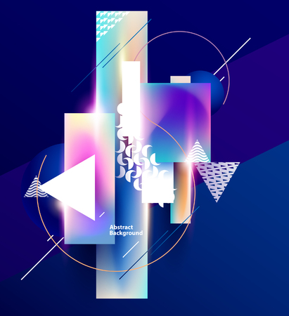 Abstract background of colorful geometric elements Illustration