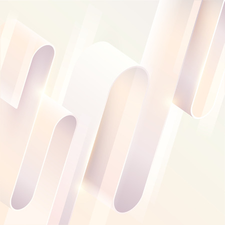 Abstract background. Light 3D tape on white background