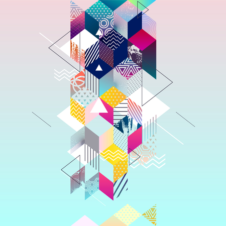 Colorful geometric design. Abstract background.