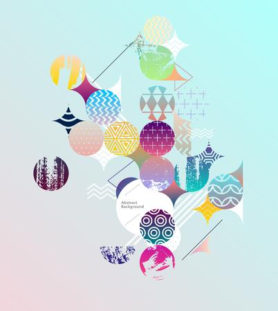 Colorful geometric design.