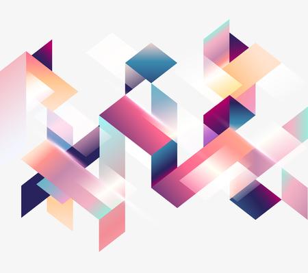 Geometric design. Bright gradient stripes on white background