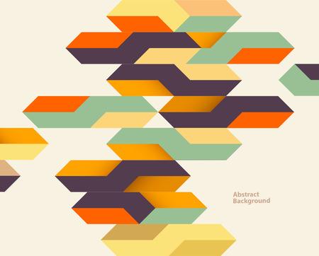 Bright vintage geometric background Illustration
