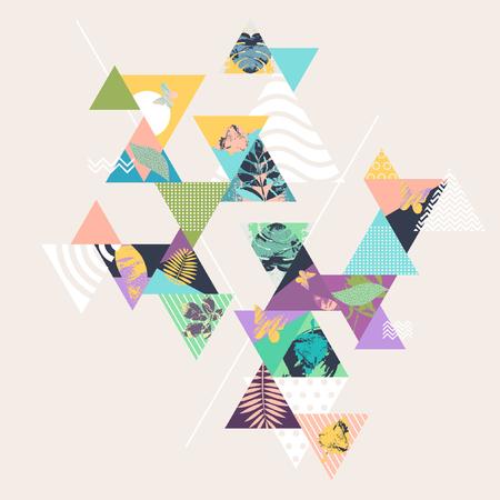 Floral geometric cimposition Ilustrace