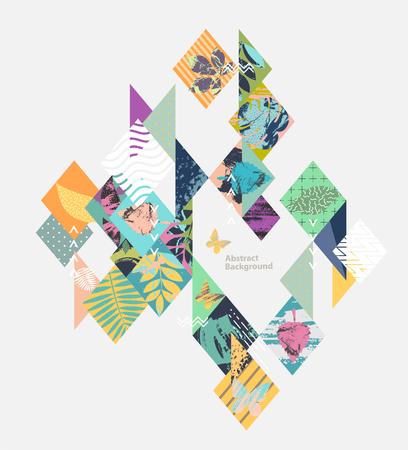Floral Geometric Design. Vector composition