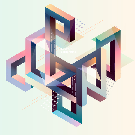 Isometric abstract composition