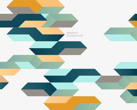 Bright vintage geometric background Ilustrace