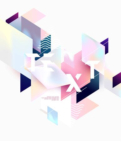 Colorful geometric poster design. Abstract background  イラスト・ベクター素材