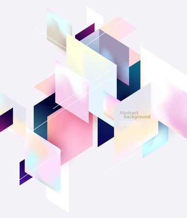 Composition of colorful rectangles. Abstract geometric background.