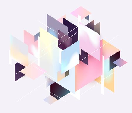 Abstract geometric background. Composition of colorful rectangles