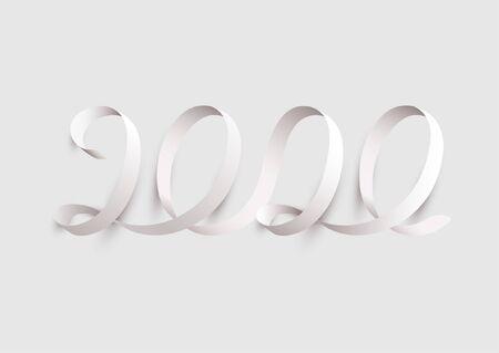 New Years 2020. Calligraphic inscription.