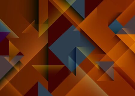 Abstract geometric background. Composition of triangles and squares