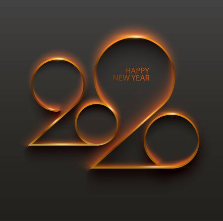 Año nuevo 2019. Diseño de tarjeta de felicitación.