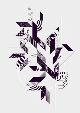 Hintergrund der abstrakten Kunst mit geometrischen Elementen