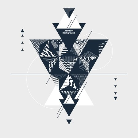 Abstract art  with triangles design Banco de Imagens - 136729949