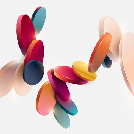 Multicolored decorative circles. Abstract vector illustration