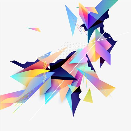 Abstract geometric background. Composition of colorful elements