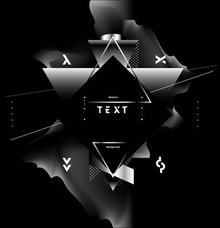 Art geometric poster with liquid elements.