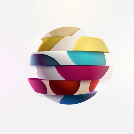 Colorful ball. Art segmented geometric primitive