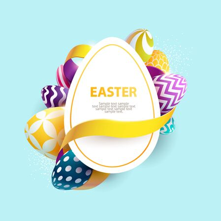 Easter colorful poster with place for text Stock Illustratie