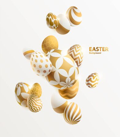 Composition of 3D Easter eggs.