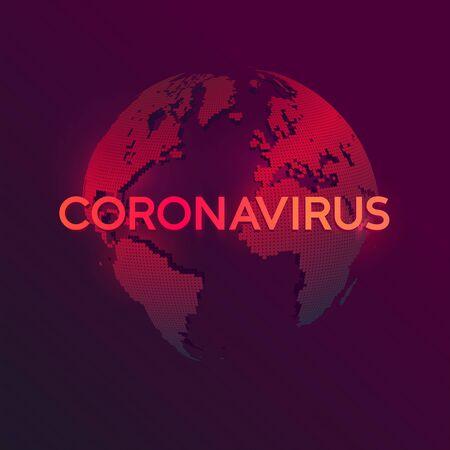 Map of coronavirus pandemic (Covid-19).