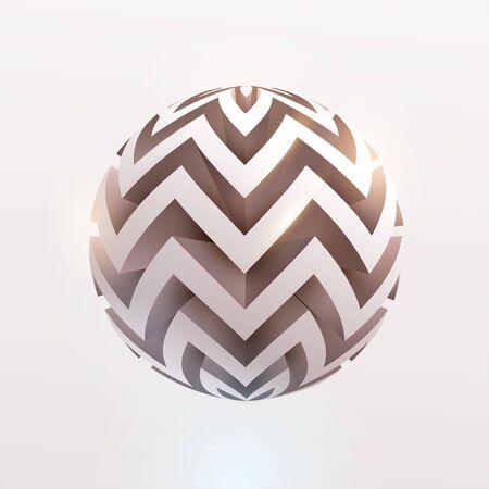 Abstract 3D ball. Art geometric primitive Stock Illustratie