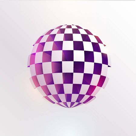 3D perforated ball. Art geometric primitive